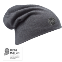 Шапка BUFF WOOL LOOSE SOLID GREY