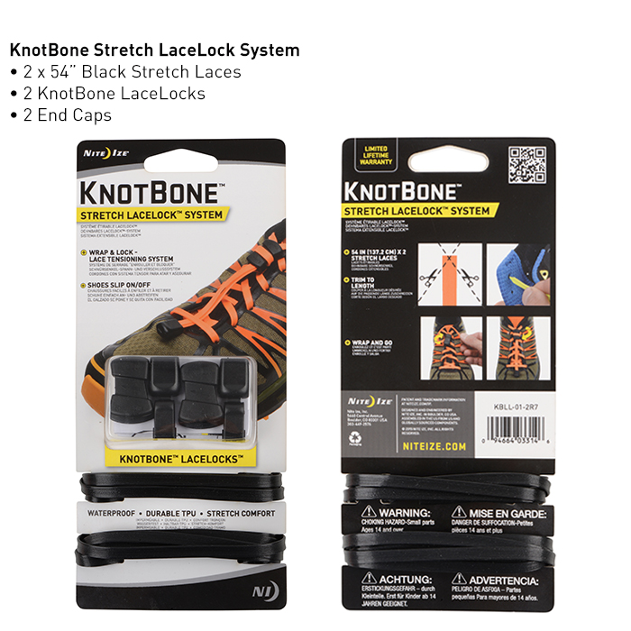 Шнурки KnotBone Stretch LaceLock System